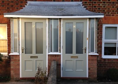 Matching Pair of New Front Doors – Bedfordshire