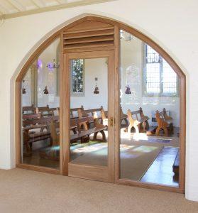 Interior Church Door