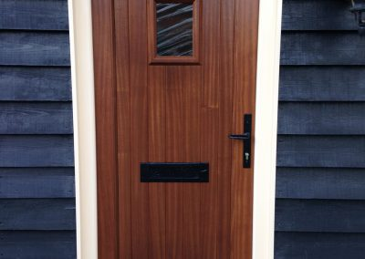 Front door on a barn conversion