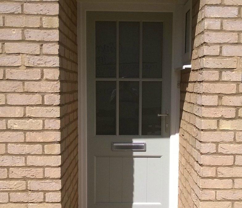 New door for house in Willington, Bedfordshire