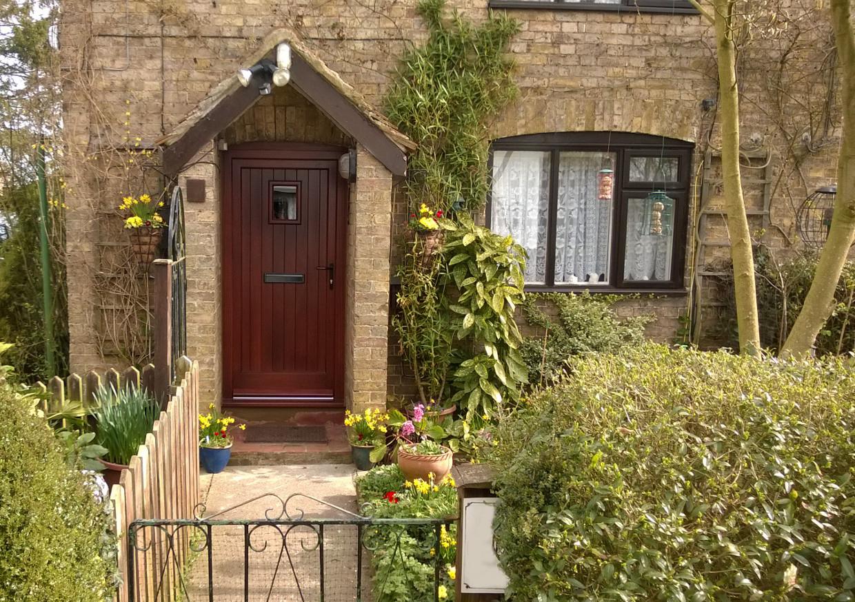 Front Door on Cottage