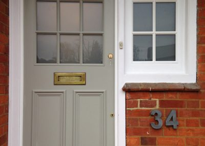 Bespoke front door and side window