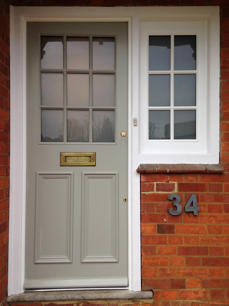 Bespoke front door and side window