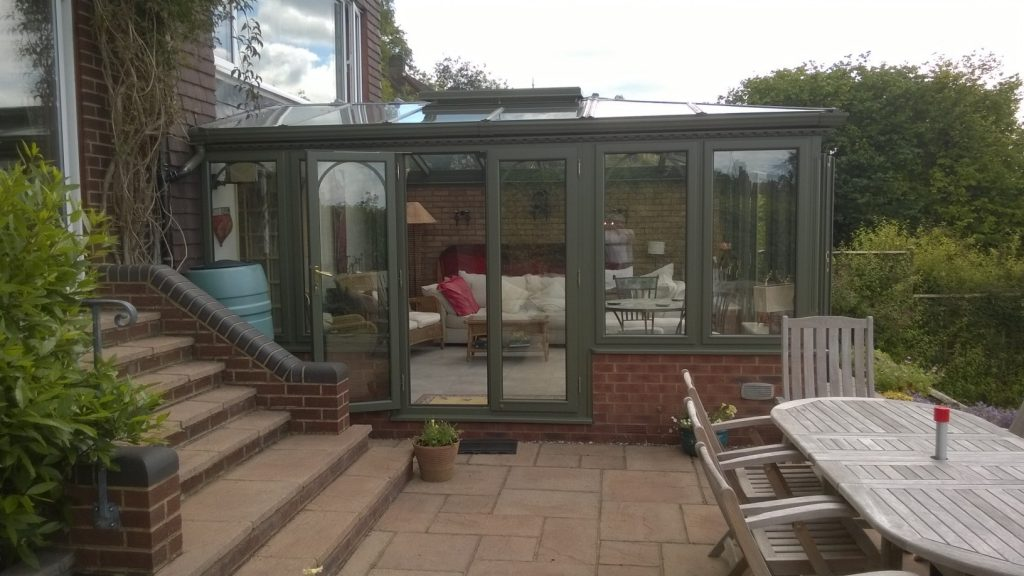 10 year old conservatory on patio